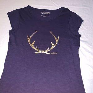 Carve Designs Purple T-shirt